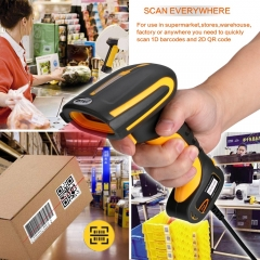 LENVII I200 2D Barcode Scanner HD Industrial QR-Code High Density,Waterproof Anti-Shock Construct Bar Code Reader, Industry 4.0 Barcode Scanner