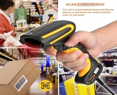 LENVII I1001D Laser Barcode Scanner Industrial Waterproof and Shatterproof Structure Industrial Barcode Scanner