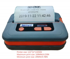 4in/120mm Portable Thermal Barcode Label Bluetooth Ticket Printer Suitable for IOS Printer Android System Printer | LENVII M421